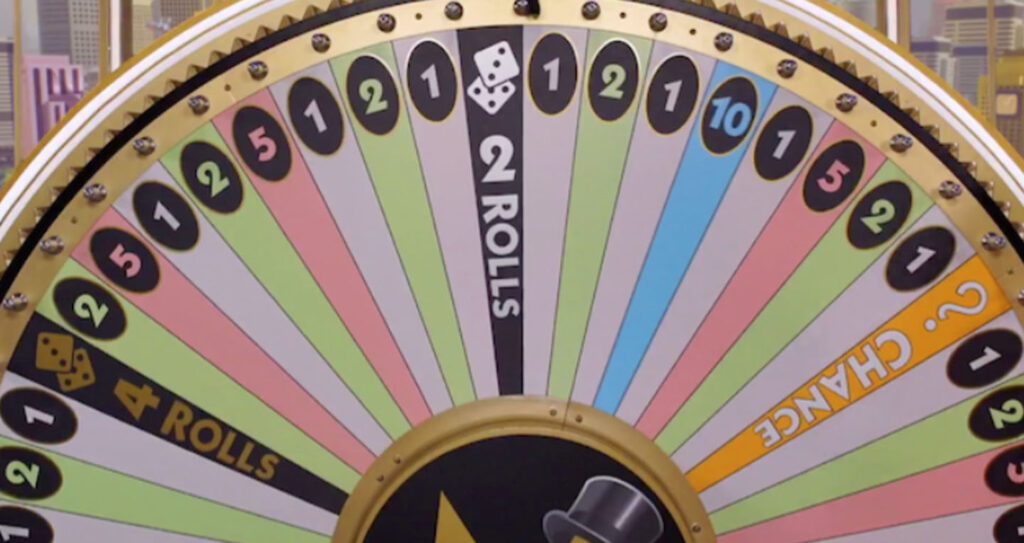 Monopoly Live Betting Wheel